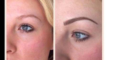 Semi permanent makeup  brows