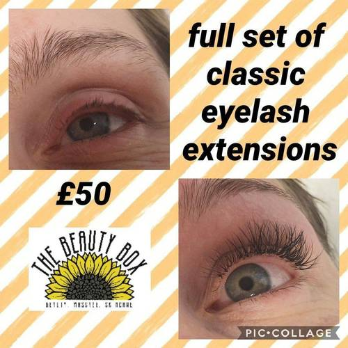 Full Set of Classic Eyelash Extensions from The Beauty Box, Duston, Northampton