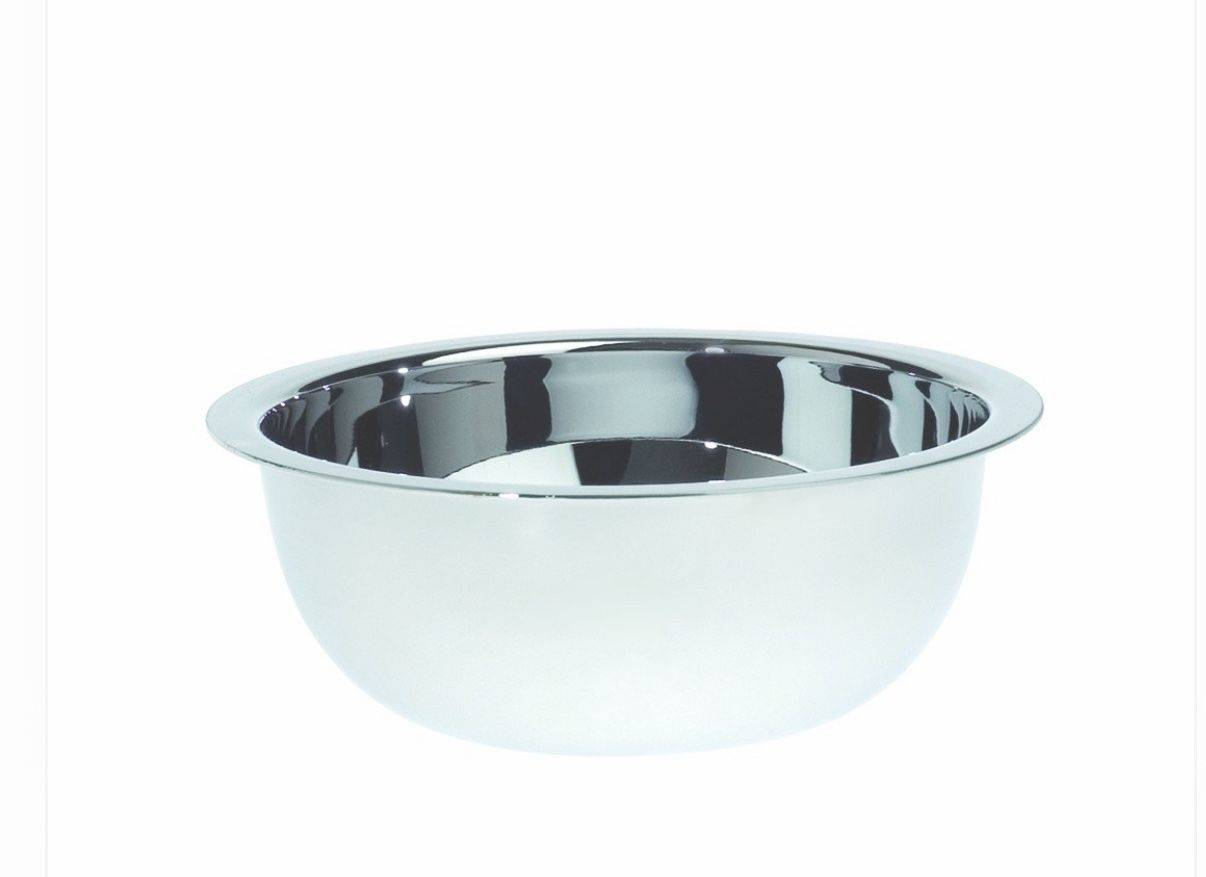 EDWIN JAGGER STAINLESS STEEL SHAVING BOWL