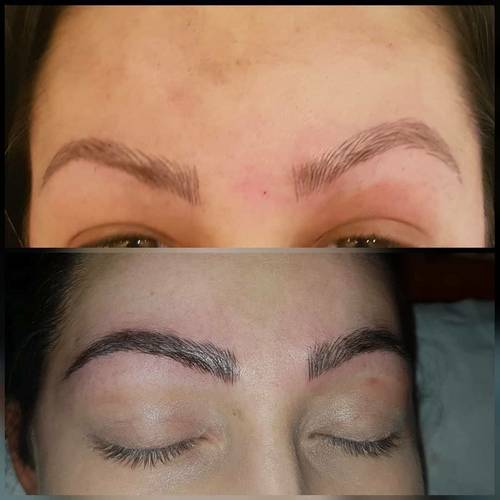Microblading after 1st session and then after 2nd session what a differnce it makes love them xx