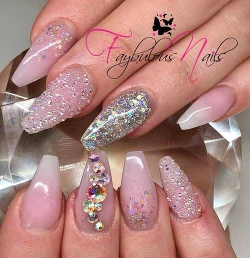 Fresh ❤️ Custom princess pinks! If the crown fits pinks  Swarovski crystal pixie and sonic silver glitter to complete the look!