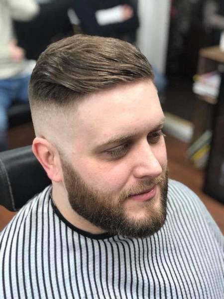 Skin fade & beard trim for Joe