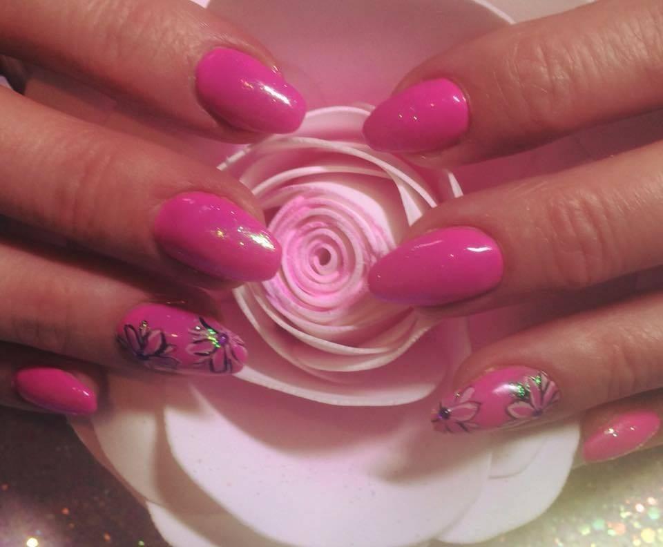Practicing a little nail art