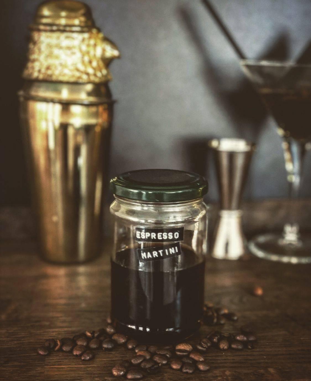 Rum Espresso Martini Cocktail (serves 2)