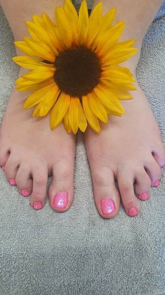 Holiday ready, with a pink Gel Pedicure: The Beauty Box, Duston, Northampton.