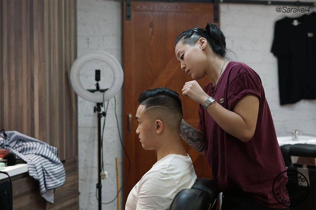 Adding those finishing touches   _____________________________________________  Bookings only/請提前預約:  Booking link ⬇️⬇️⬇️ www.themacaubarbershop.com