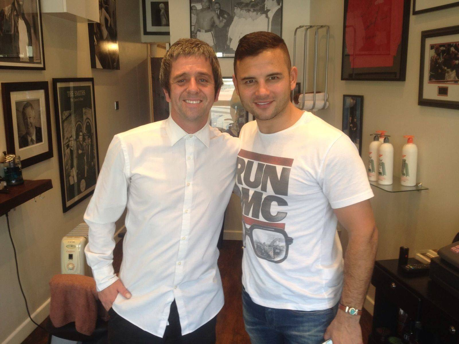 Great to see Ryan Thomas, aka Jason Grimshaw from Coronation Street, in Wolfendens for a haircut this weekend!