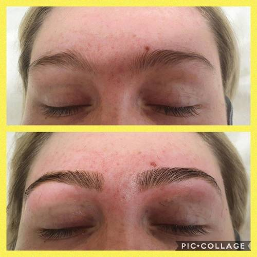 EyeBrow Shape & EyeBrow Tint to enhance the natural brow for a full shaped looked from The Beauty Box, Duston, Northampton