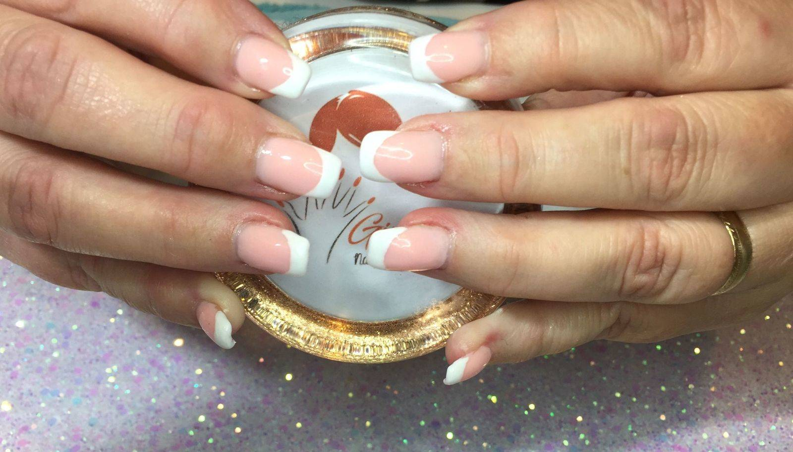 French using builder gel with Daisy from The Gel Bottle Inc