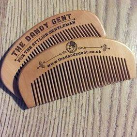 Engraved Wooden Hair & Beard Comb