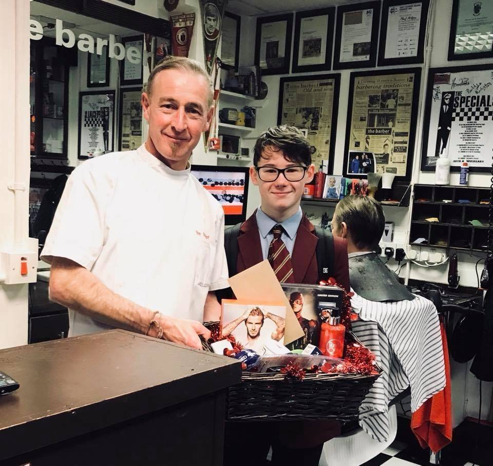 JAMES was in today to collect the £100 Xmas hamper Ciara his mum won in the draw! Oh and free haircut tomorrow!;) thanks all who took part yet again ✂️