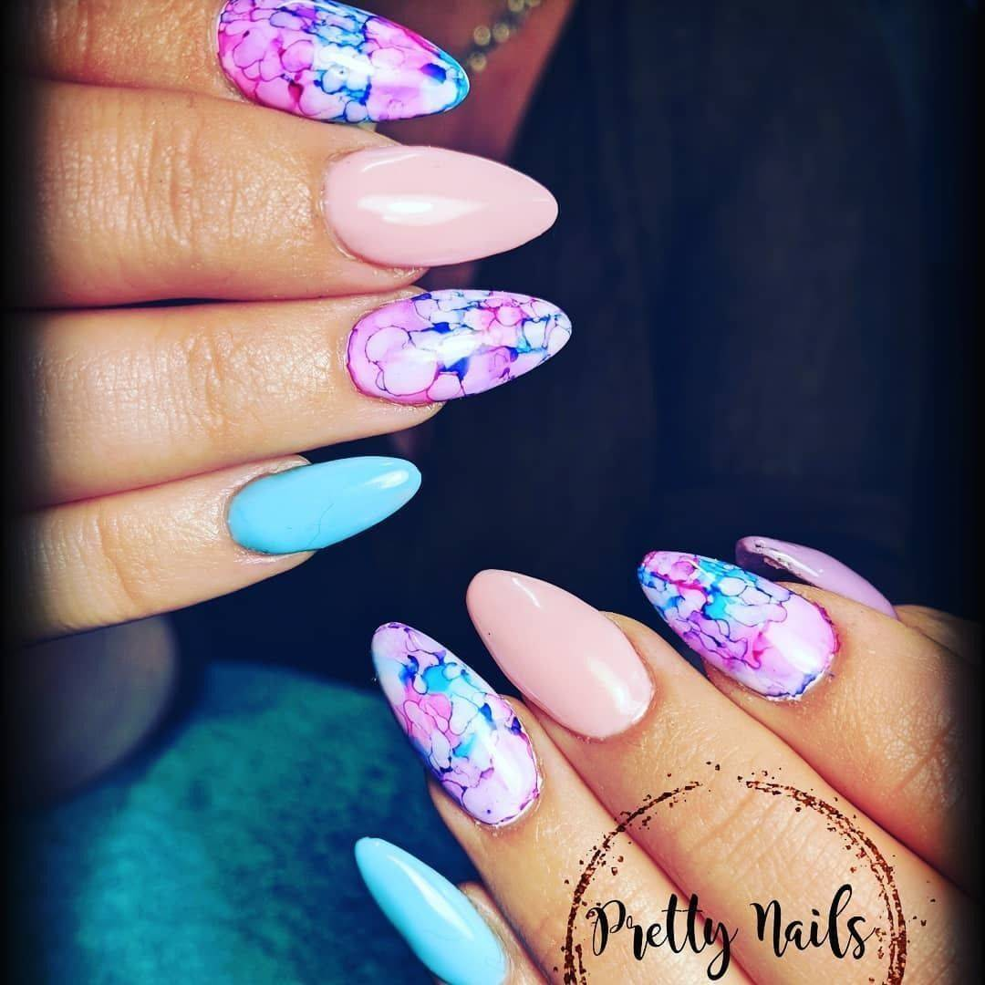 Pretty Nails By Clare Perfect Nails For The First Day Of Spring Yesterday Spring Atlast Easterinspo Prettynailsbyclare Naillandstudioandtraining Pastels Pink Blue Purple Marble