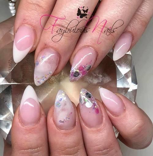 Fresh ❤️ design set with Nail art. Girly pink quartz ❤️