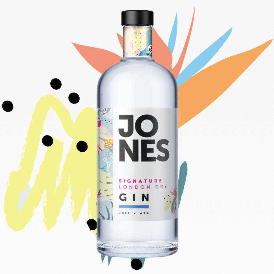 Jones Signature London dry Gin 43% (70cl)