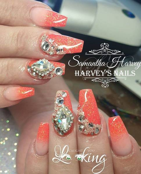 Neon Ombre with Swarovski finish