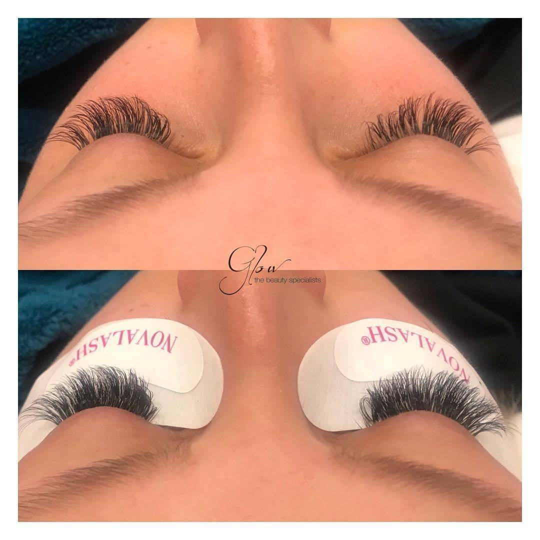 Before & after a 3 & 1/2 week Infill ♥️ #felixstowe #beautysalon #glow #suffolk #novalashornothing #novalashcertified #americanvolume #lashartist