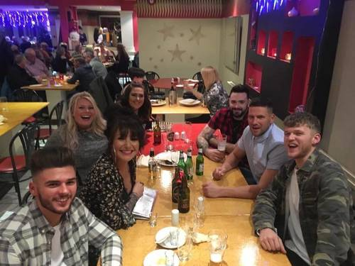 Xmas works do out !!! Celebrations  small business award and a great year at the nest ! Great team !!!! Let's party  thanks everyone again for vote and being great customers