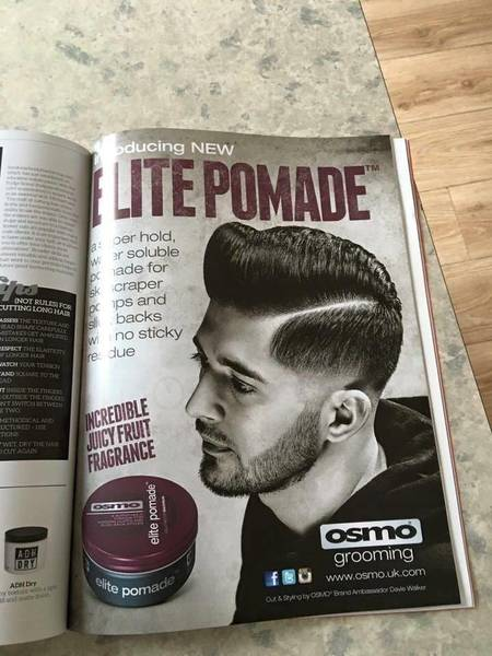 Our work in magazines , haircut by Davie