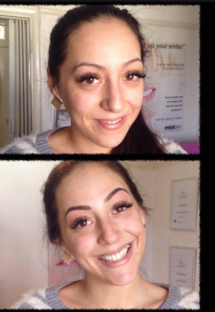 Semi permanent tattooed brows