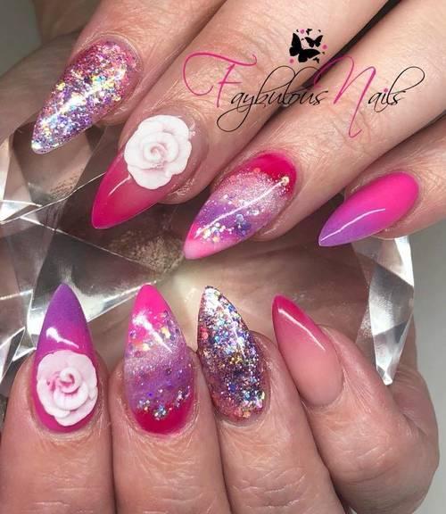 Fresh ❤️ Custom beauts! When pink and glitter isn't enough we add purple! ❤️