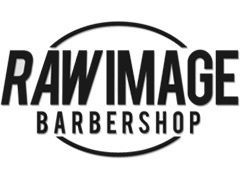 Raw image barbershop logo