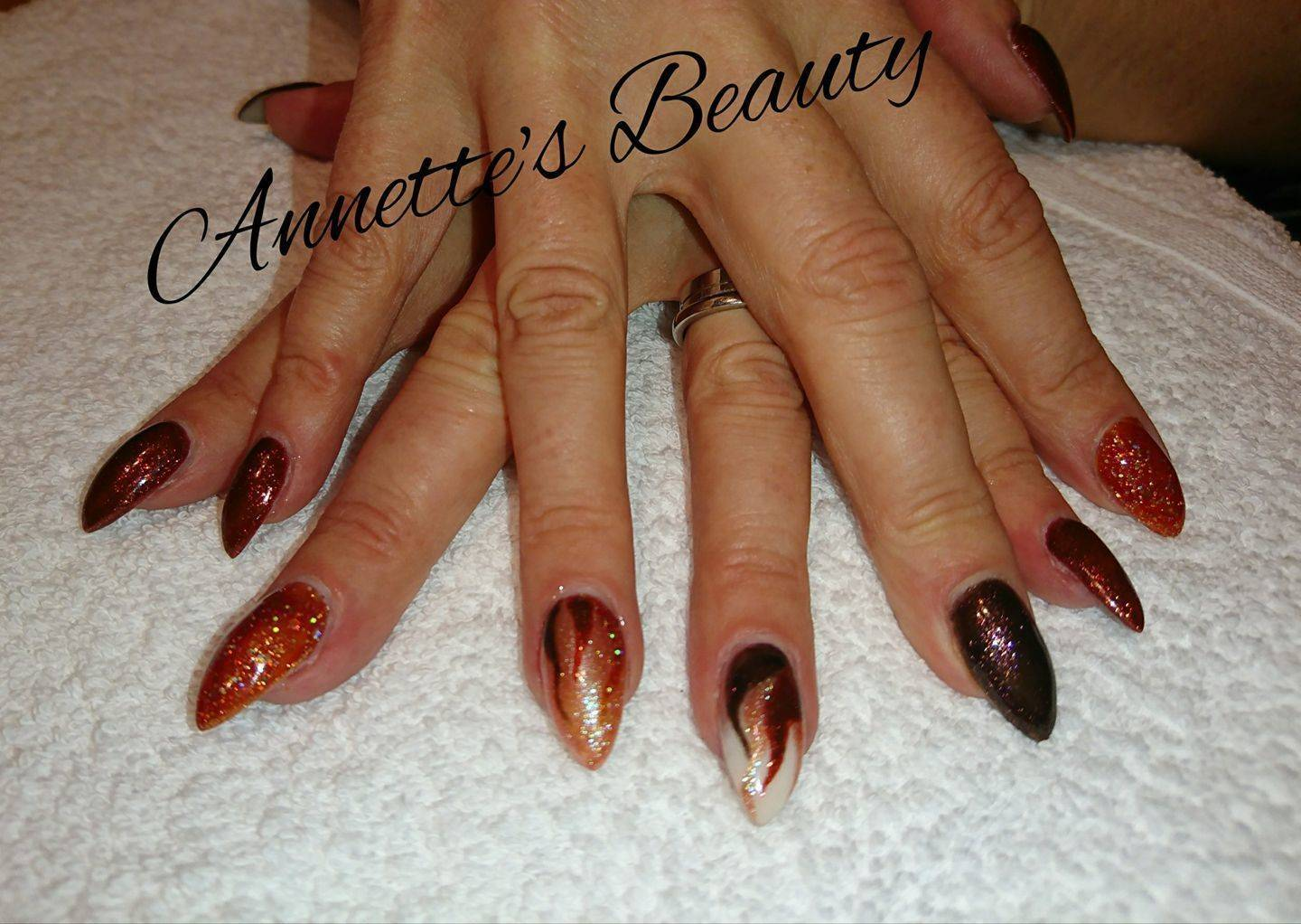 Acrylic extensions in the comfort of your own home. £20 per set with regular Polish or £25 with gel polish