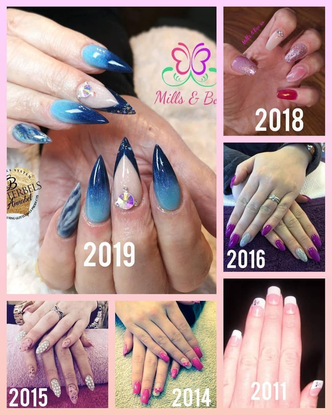 Progression through my Nail Career since 2011 to Now!    Always Learning Never give up!   @millsandboobeauty @kirsty88millie   #nailtechgoals #nailtechnails #nailtechlife #lovemyjob