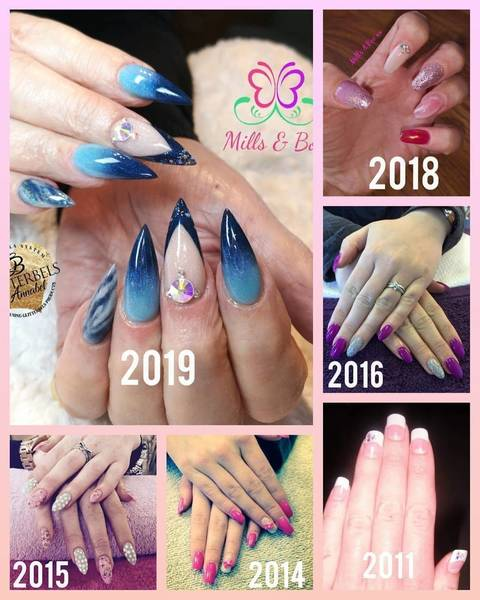 Progression through my Nail Career since 2011 to Now!    Always Learning Never give up!   @millsandboobeauty @kirsty88millie   #nailtechgoals #nailtechnails #nailtechlife #lovemyjob