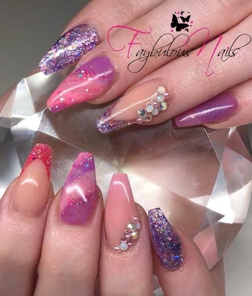Fresh  Pink and purple creation