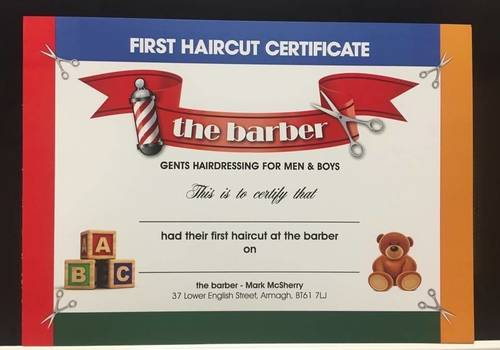 First haircut certificate for the wee ones!;)