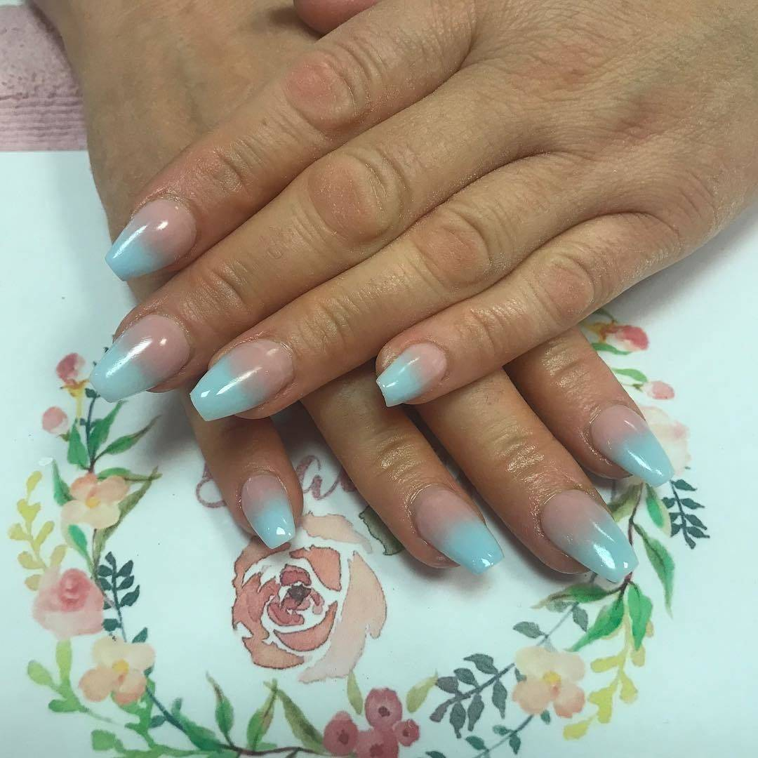 Beau Boo Beauty Baby Blue And Pink Ombré Ombrenails Acrylicnails