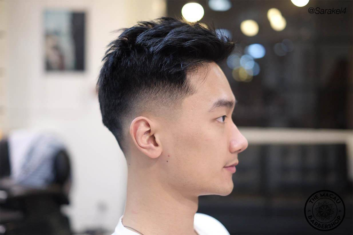 Messy top   _____________________________________________  Bookings only/請提前預約:   Booking link ⬇️⬇️⬇️ www.themacaubarbershop.com