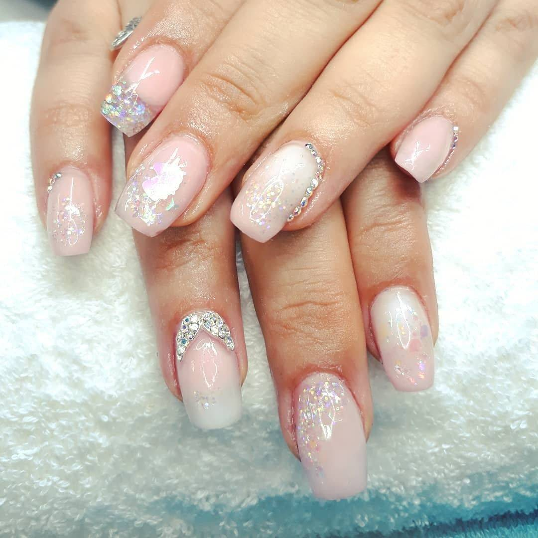 #youngnailsinc Slickpour Smug Life with a little bit of bling