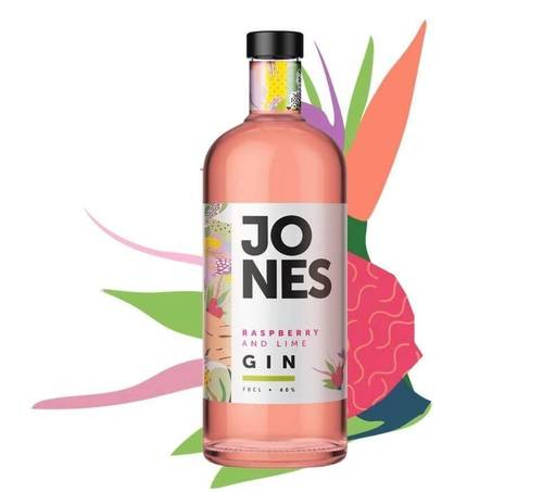 Jones Raspberry and Lime Gin 40% (70cl)