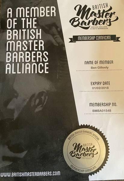 Master barber membership