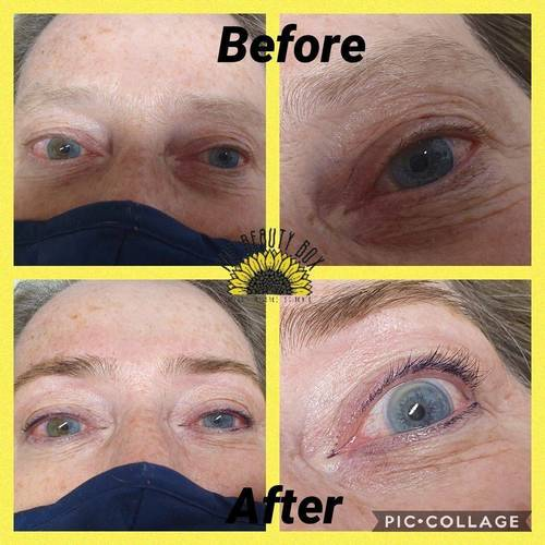An Eyelash tint, Eyebrow tint and Eyebrow Shape performed on a client at The Beauty Box, Duston, Northampton. You can book this treatment as a Eyebrow Shape, Tint and Lash Tint Combo
