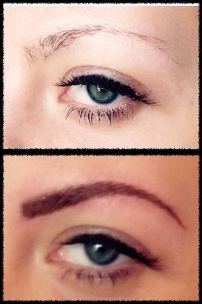 Before and after semi permanent makeup