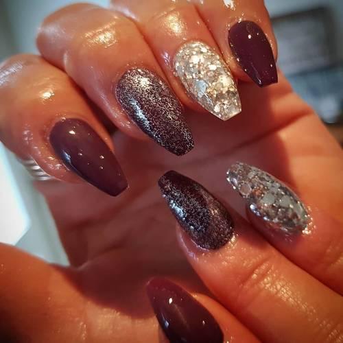 Autumn yum ❤🧡#nailsinspo #nailsoftheday #nailstagram #instadaily #instanails #gelnails #glitternails