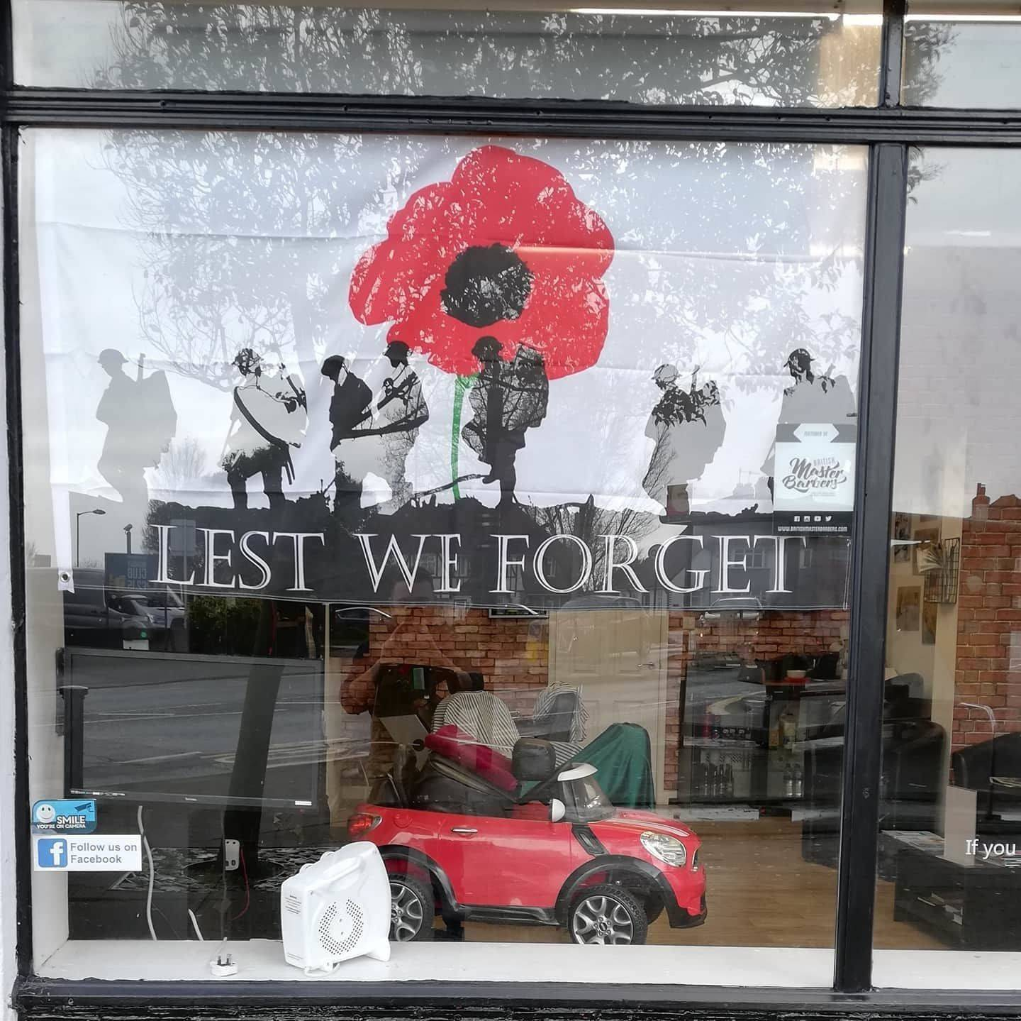 Our new window poster. Do you think it's big enough?  #lestweforget