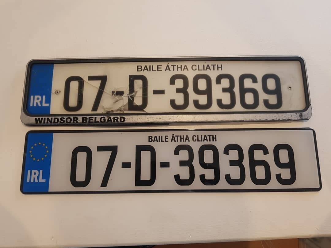New Reg Plates x2 Suppied & Fitted