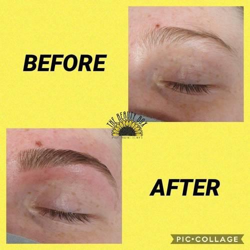 An eyebrow shape and eyebrow tint performed at The Beauty Box, Duston, Northampton