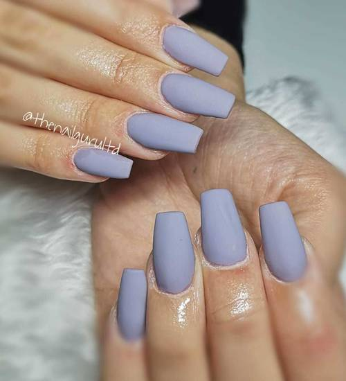 Simply beautiful matte nails   Contact us to grab our last appointment for Wednesday so you can have nails like this !!