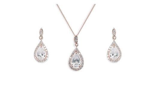 Belmont Rose Pendant and Earrings