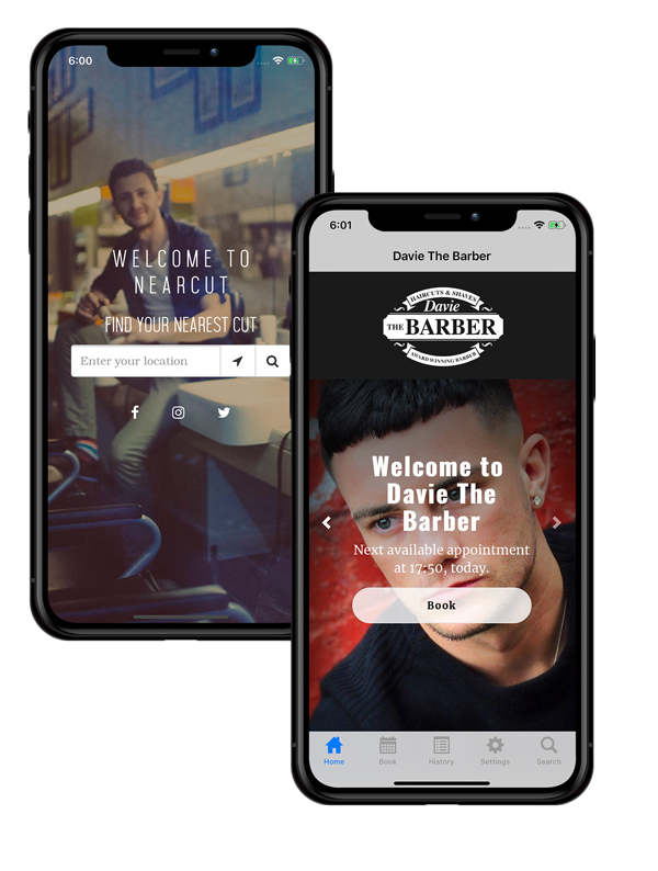 Nearcut website app image