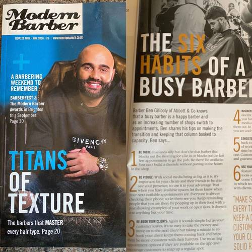 Modern barber 6 habits of a busy barber