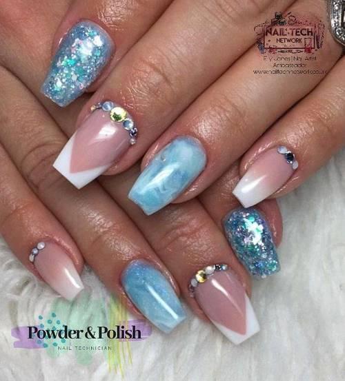 Ice blue custom full set with extra swarvoski