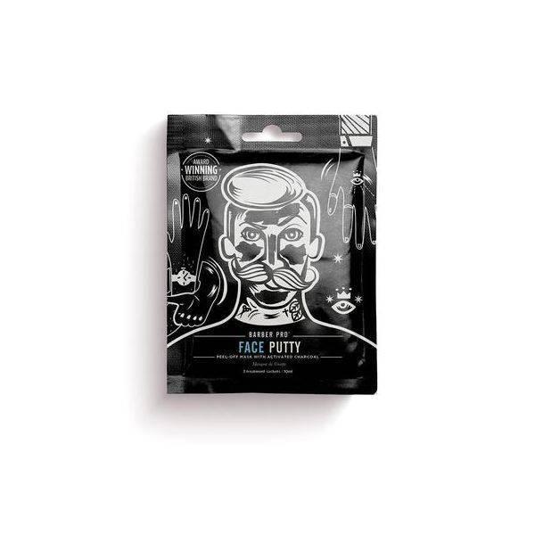 Barber Pro Face Putty - Black Peel-Off Mask (3 x Sachets - 7g)