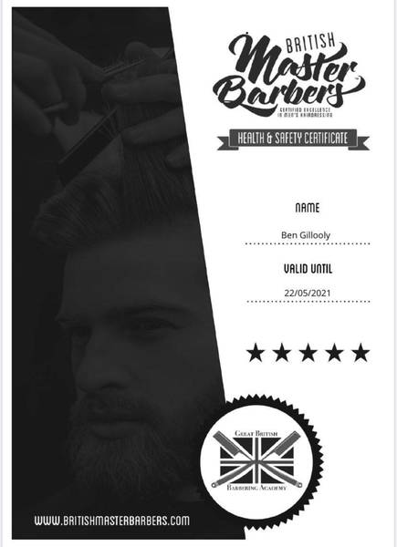 Master barbers health and saftey (Buxton)