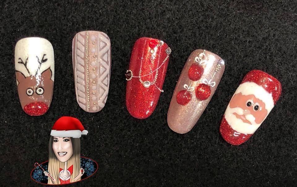 Totally Gorgeous Nails Christmas Nail Art Designs 2017 2018