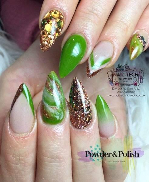 Green and bronze custom full set